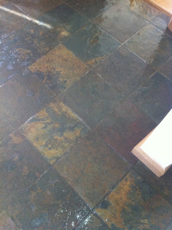 Case Study Showing Slate Floor Cleaning The Tile And